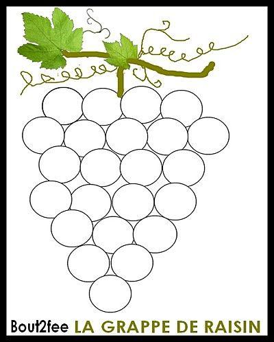 Coloriage Gommette Fruits Et Legumes.Grappe De Gommettes Fruits Et Legumes Automne Maternelle