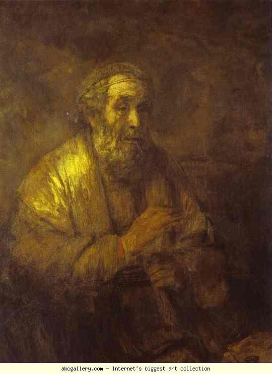 Rembrandt. Homer. Olga's Gallery.