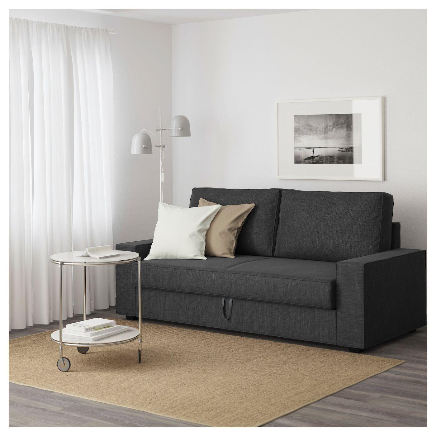 2 Zits Slaapbank Antraciet.Vilasund 3 Zitsslaapbank Hillared Antraciet Furniture Sofa