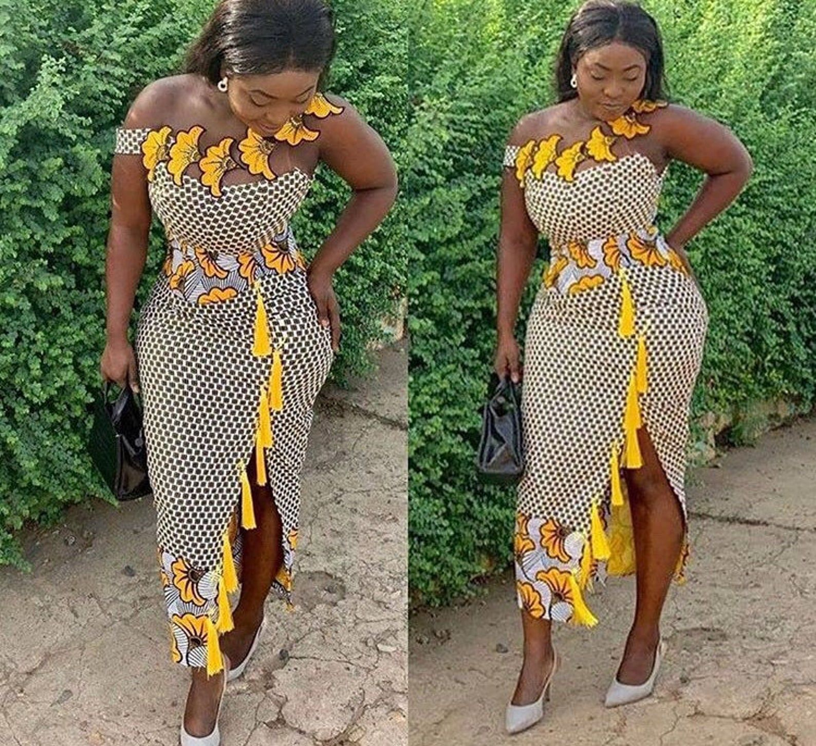 Simple African Summer Dresd African Midi Dress African Print Etsy African Design Dresses African Wear Dresses African Print Fashion Dresses [ 1452 x 1588 Pixel ]