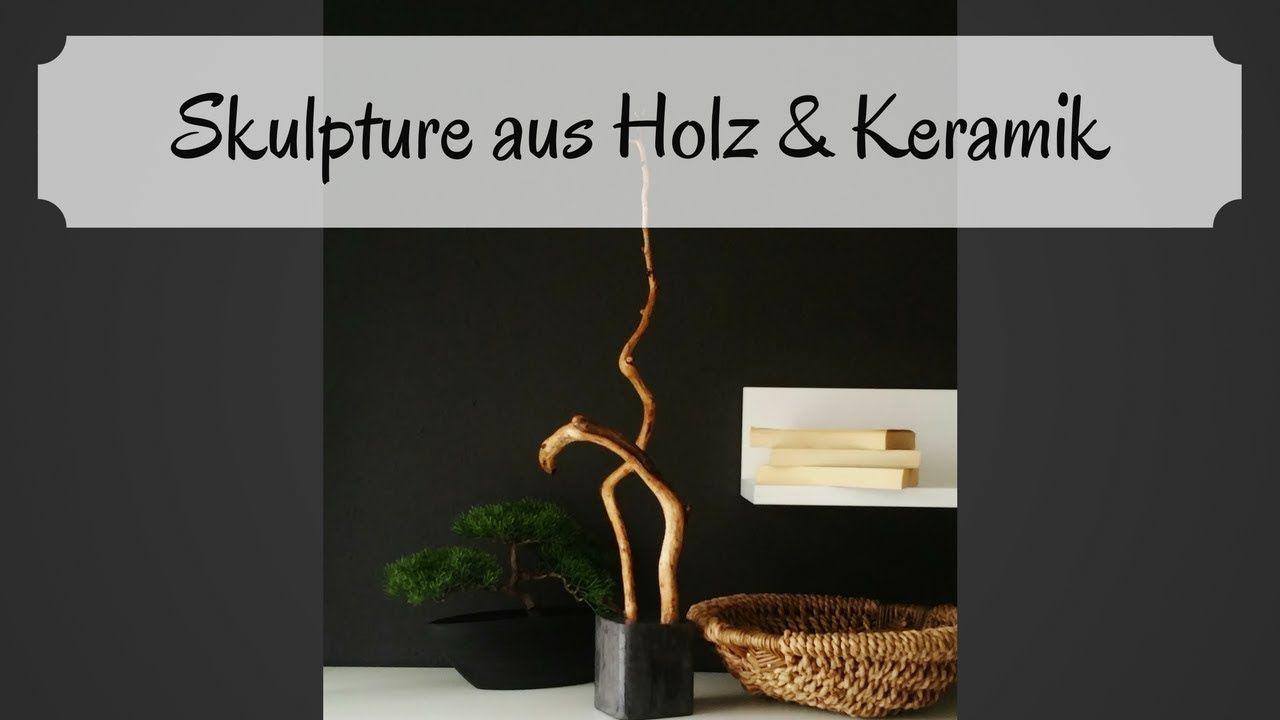 Holz Im Sockel Als Skulptur / DIY / Selber Machen/ Beton Sockel/ Keramik  Sockel