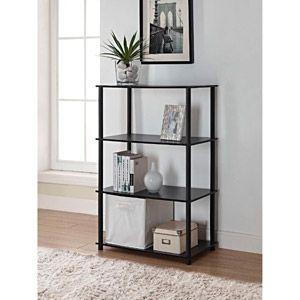 Mainstays No Tools 4 Shelf Standard Storage Bookshelf White Walmart Com Cube Storage Shelves Cube Storage Cube Storage Unit