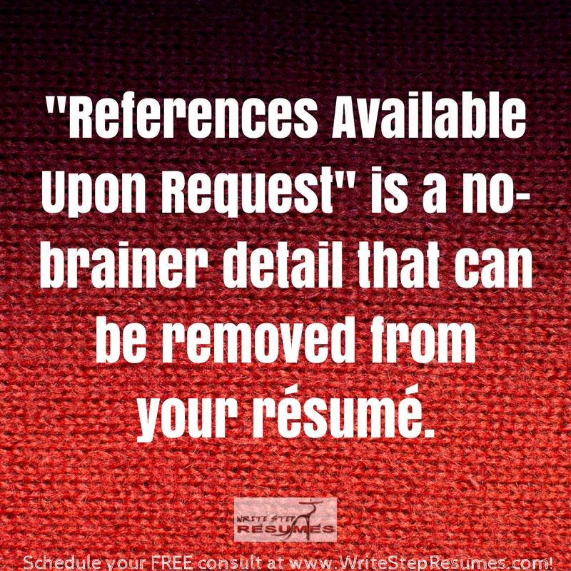Never list no-brainer info on your resume. Of course if you want the job, you will give references if asked. Don't bore the employer with info they already know.
