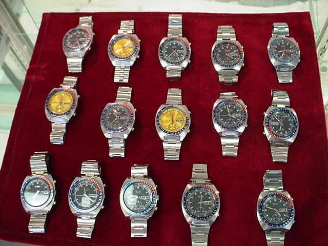 Seiko vintage chronograph collection