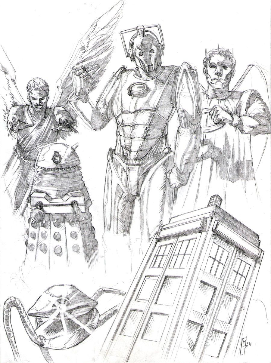Doctor Who Fanart | doctor who by patricksigma fan art traditional art drawings movies tv ...