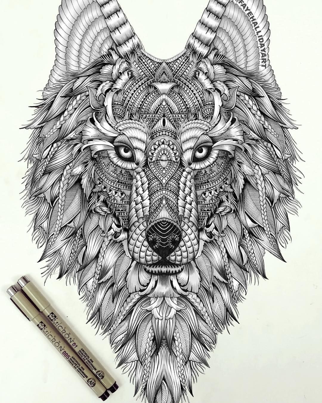 Coloring pages for adults wolf - Printable Wolf Coloring Pages For Adults See More Aurora Revisited By Faye Halliday Aurora Holds An Appetite For Freedom And The Overwhelming Need
