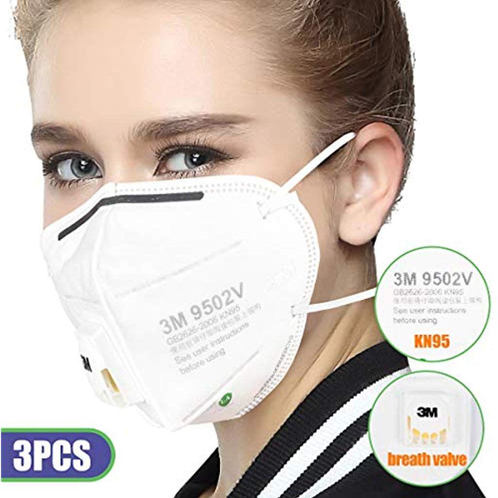 3m N95 Mundschutz Mit Ausatemventil Atemschutzmaske Kopfmontierte