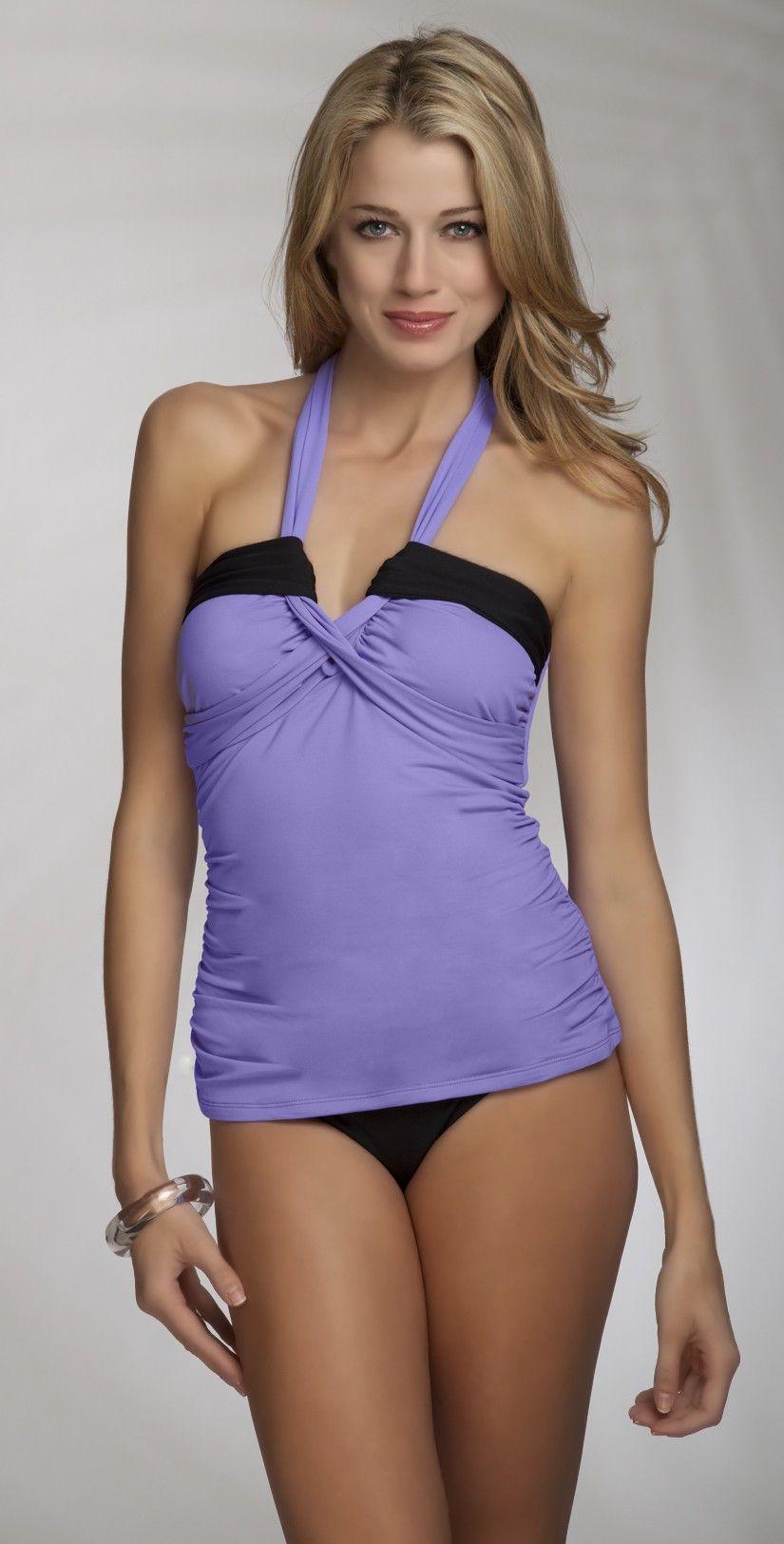618c879449 Anne Cole 2013 Color Block Lilac Halter Tankini - Tankinis - Swimsuits