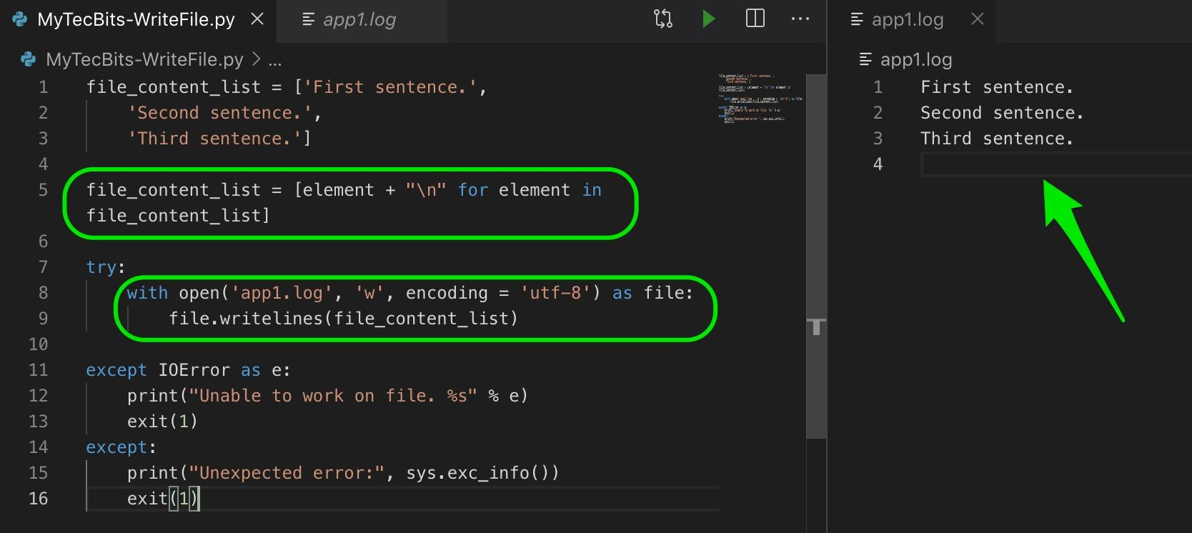 How to write data from list to a file in Python?  Python, List