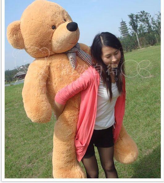 huge plush teddy bear toy large big eyes bow bear toy stuffed big light brown teddy bear gift 180cm //Price: $US $107.09 & FREE Shipping //     #toyz24