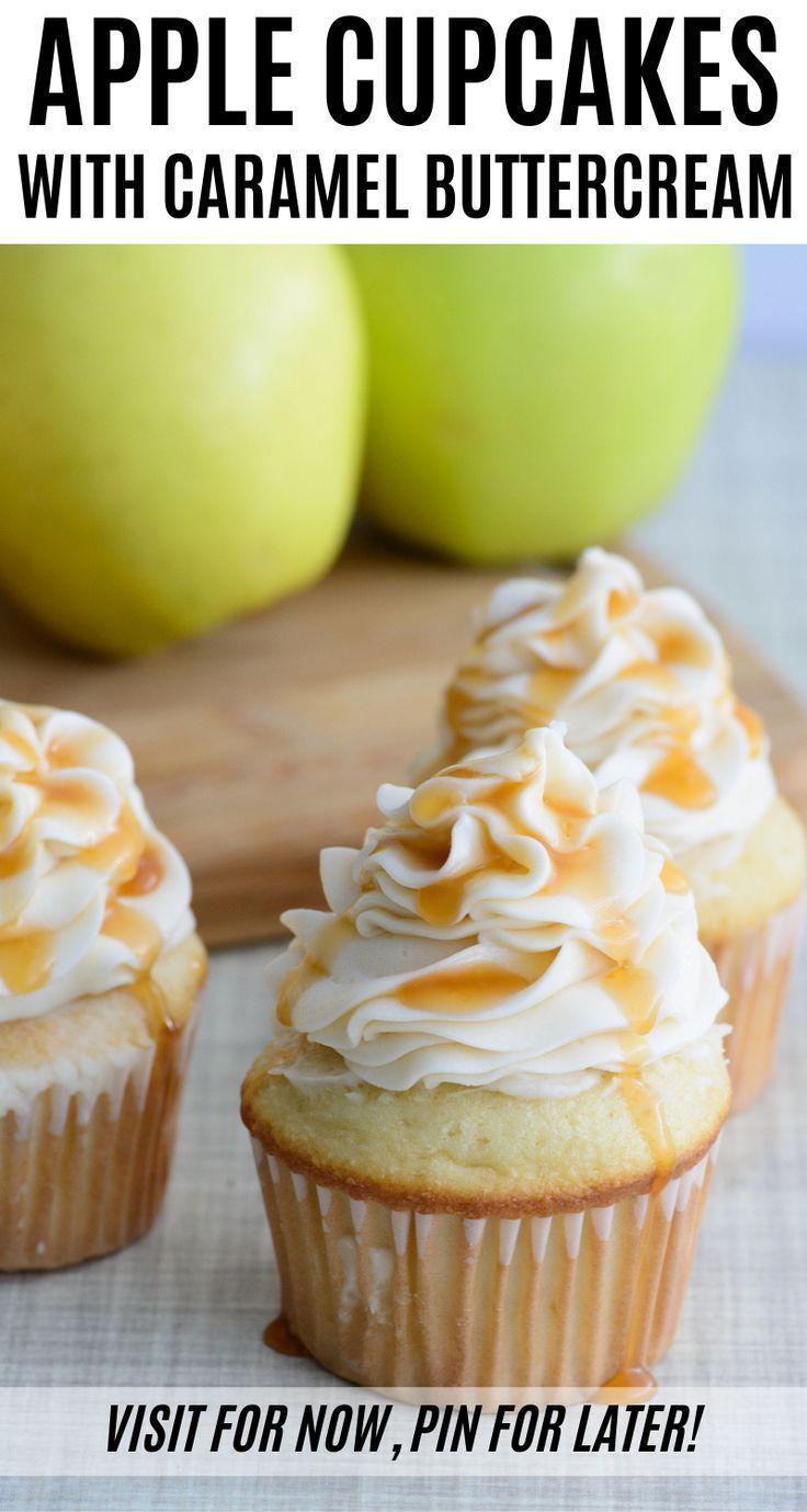 Caramel Apple Cupcakes - Feiern Sie den Herbst mit diesem einfachen Rezept #caramelapples