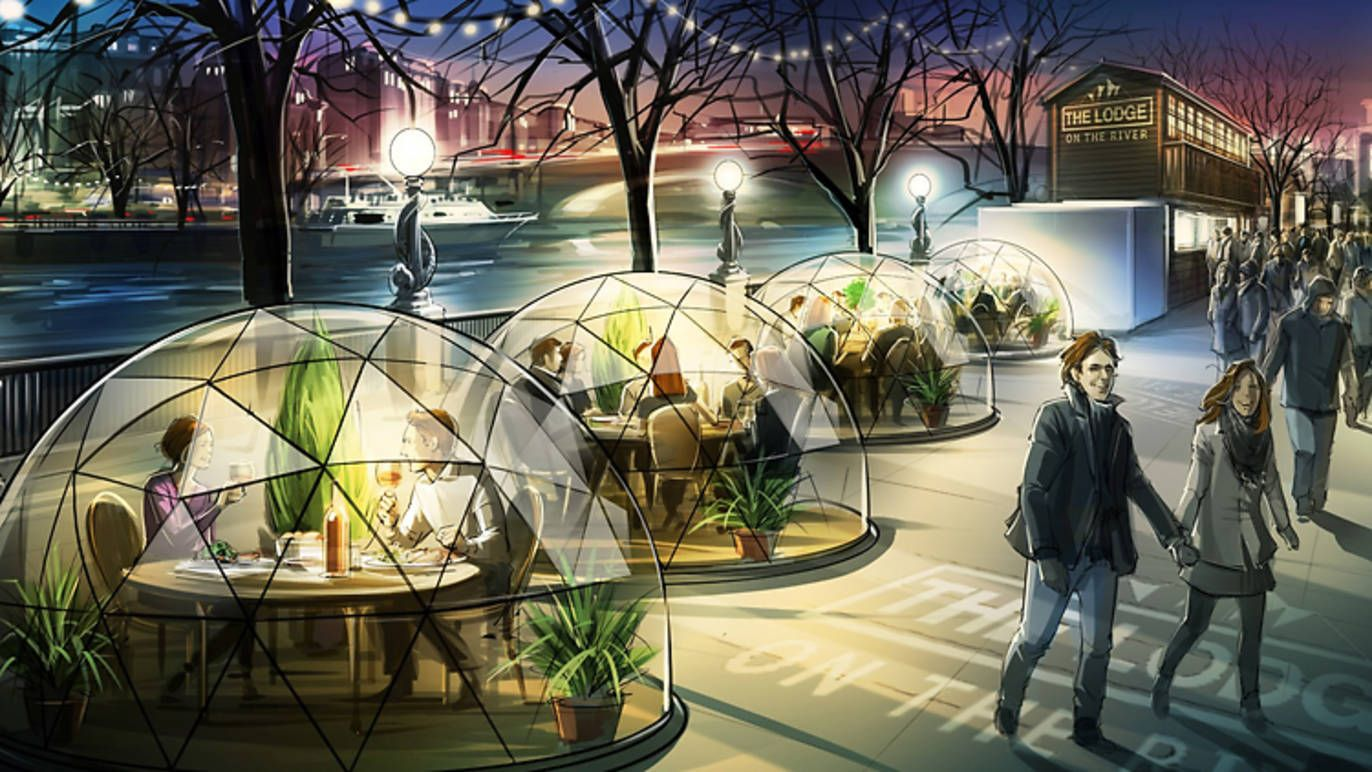 Eat Dinner In A Massive Snow Globe By The Thames