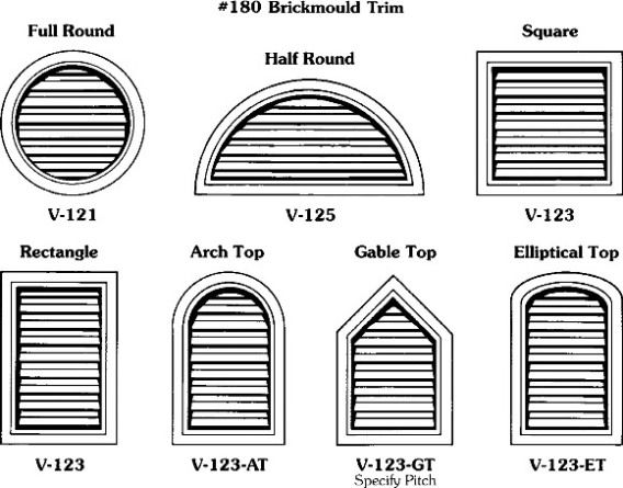 Gable Vents Al's Millworks Custom Wood Shutters, Wood