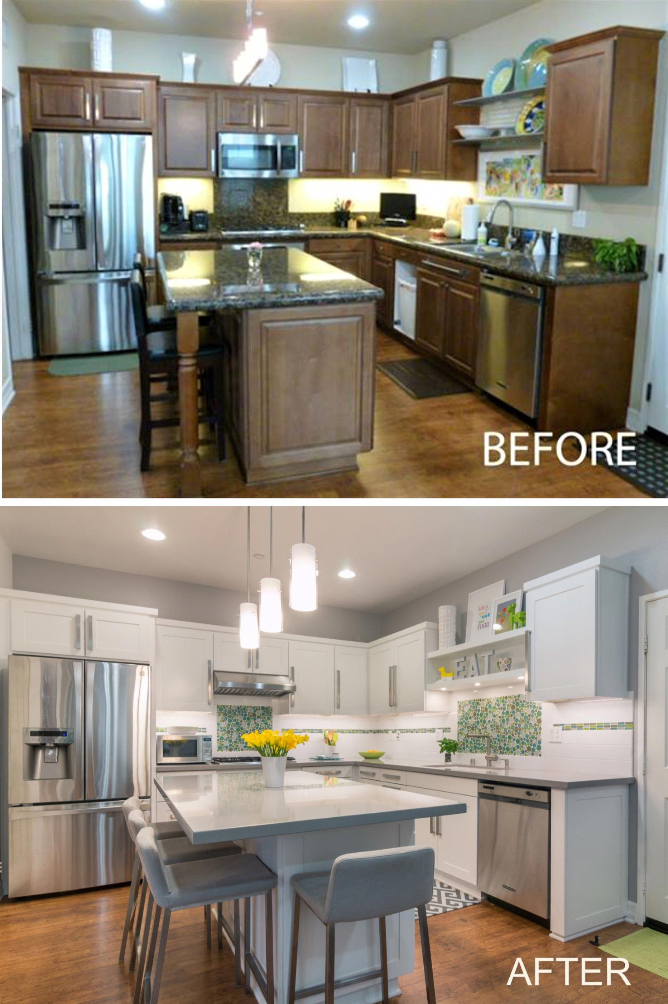 Kitchen Cabinet Reface-Before and After # ...