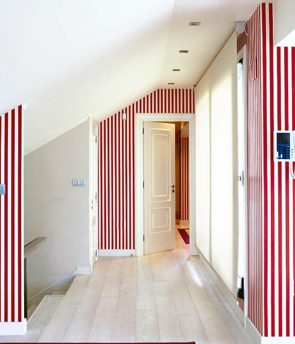 Rayas-verticales-para-efectos-en-el-pasillo Rayas Pinterest - decoracion pasillos