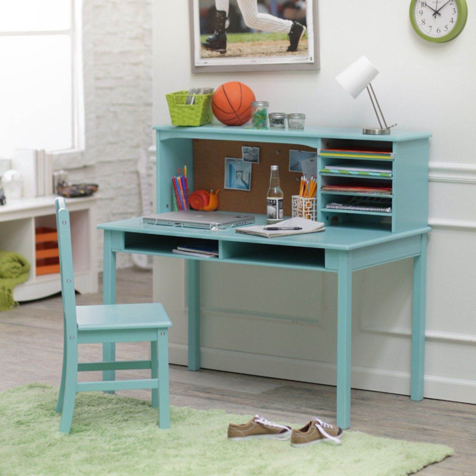 Guidecraft Media Desk Chair Set Teal Walmart Com Kids Desk Chair Desk And Chair Set Girls Desk Chair