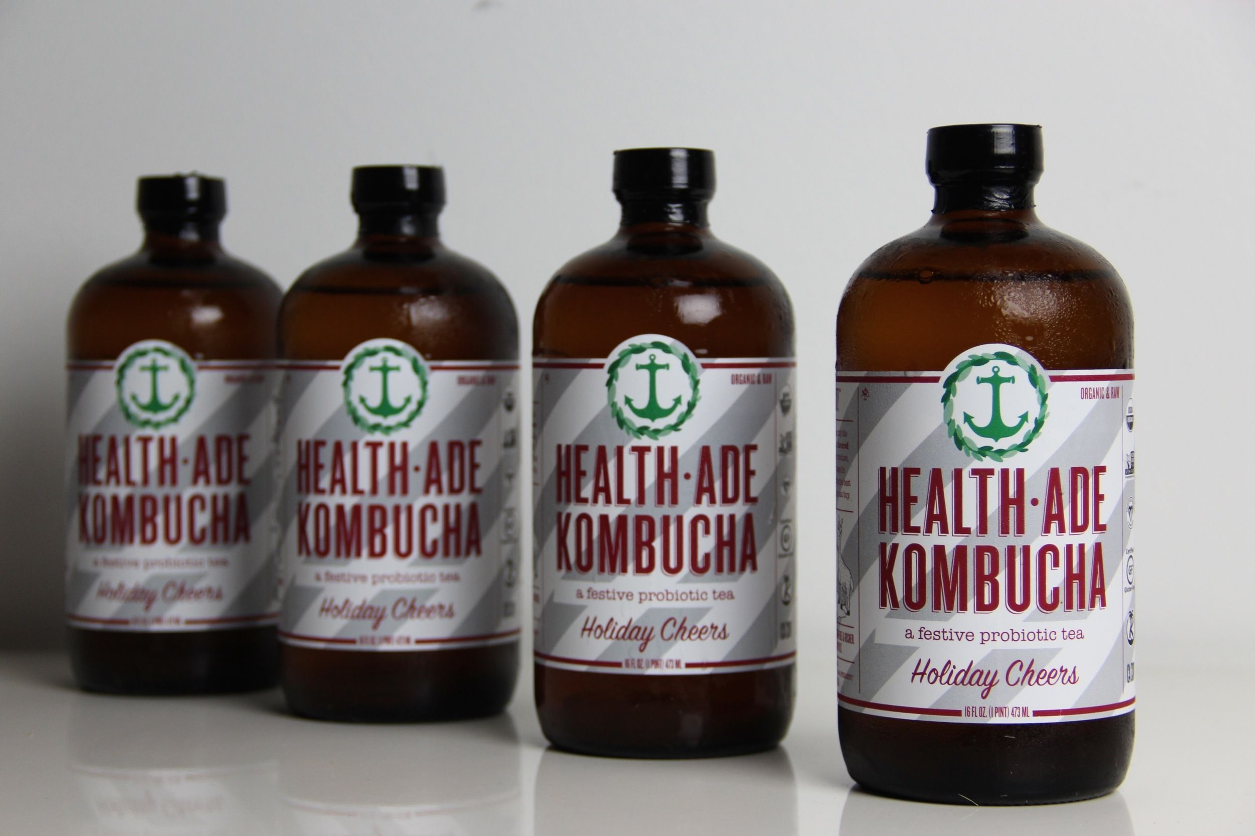 HEALTH-ADE KOMBACHA: Holiday Cheers — The Dieline - Branding & Packaging