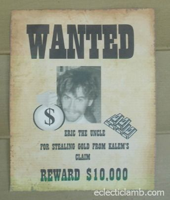 Wanted Poster- Scavenger hunt? | Summer Camp 2013 in 2019 | Gold