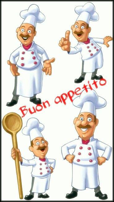 Buon Appetito Cuochi Stampe Cucina Dipingere Disegni Per Ceramica