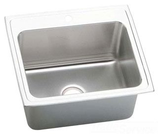 Elkay Stainless Steel Sink With 10 Deep Bowl And Additional Drilling For Eye Wash Single Basin Kitchen Sink Sink Elkay