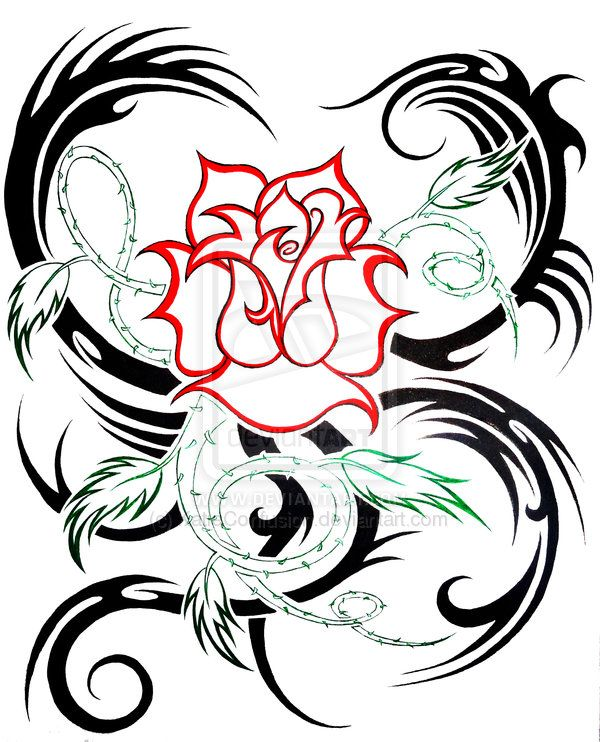 6f2eb24a6 rose tribal by KatieConfusion.deviantart.com on @deviantART | My ...
