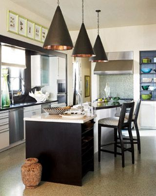Ivory cabinets espresso stained kitchen island stools black cone ivory cabinets espresso stained kitchen island stools black cone pendant lights copper lining workwithnaturefo