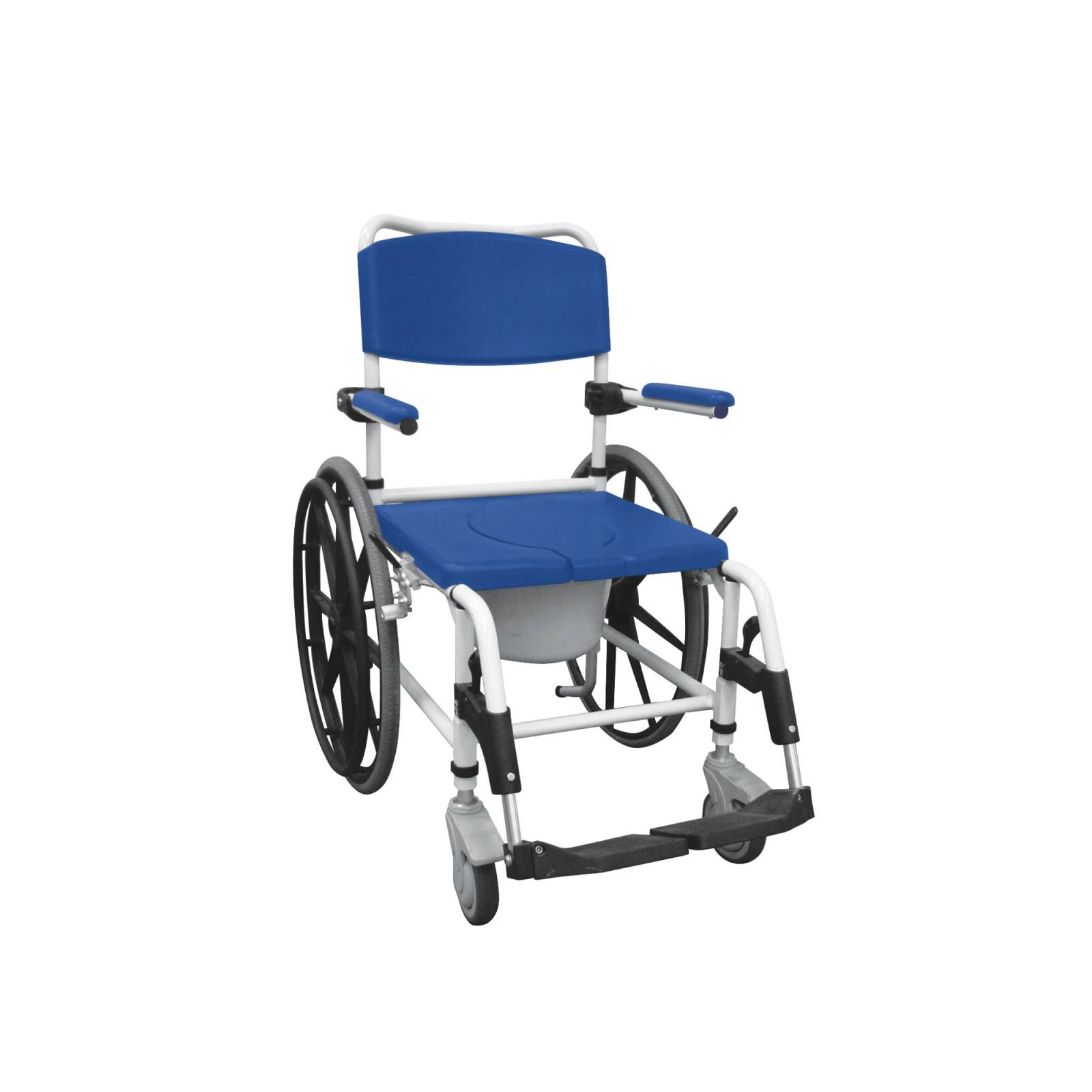 Aluminum Shower Commode Mobile Chair Shower Commode Chair Shower Wheelchair Commode Chair