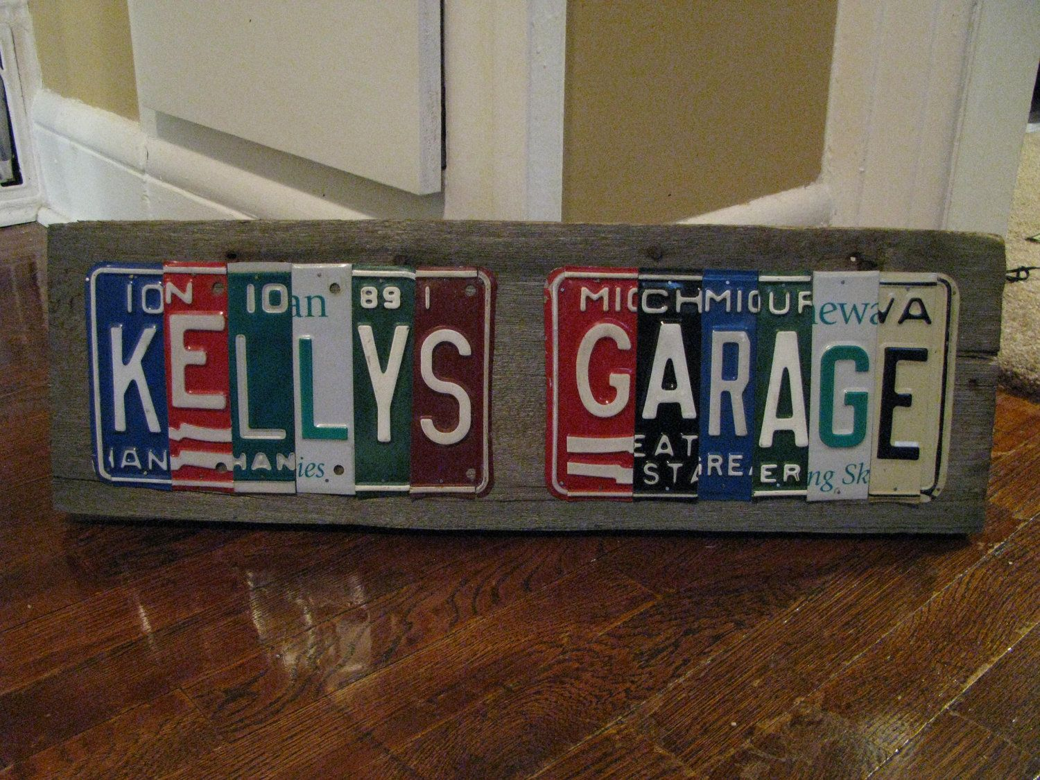 Made to Order License Plate Signs- Personalized Dad- Fathers