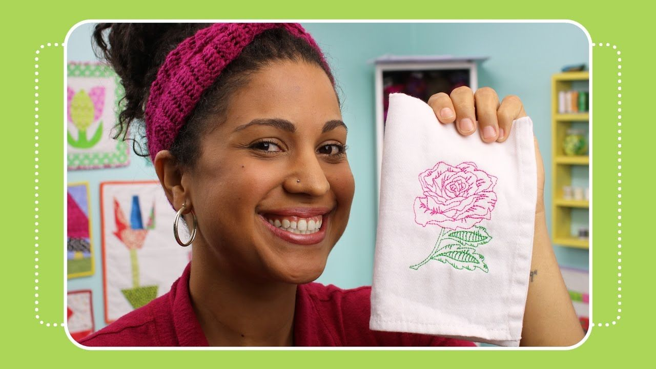 Beginner machine embroidery project 1 on pe770 with