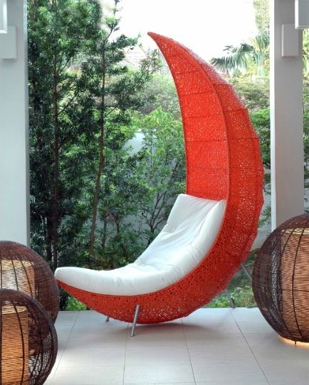 Love The Moon Shape Looks Comfy Outdoor Furniture Inspiration
