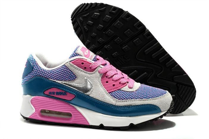 hot sale online d0cab 72588 Nike Air Max 90 Sport Schuhe Lila Weiß Pfirsichrot Online €62,38