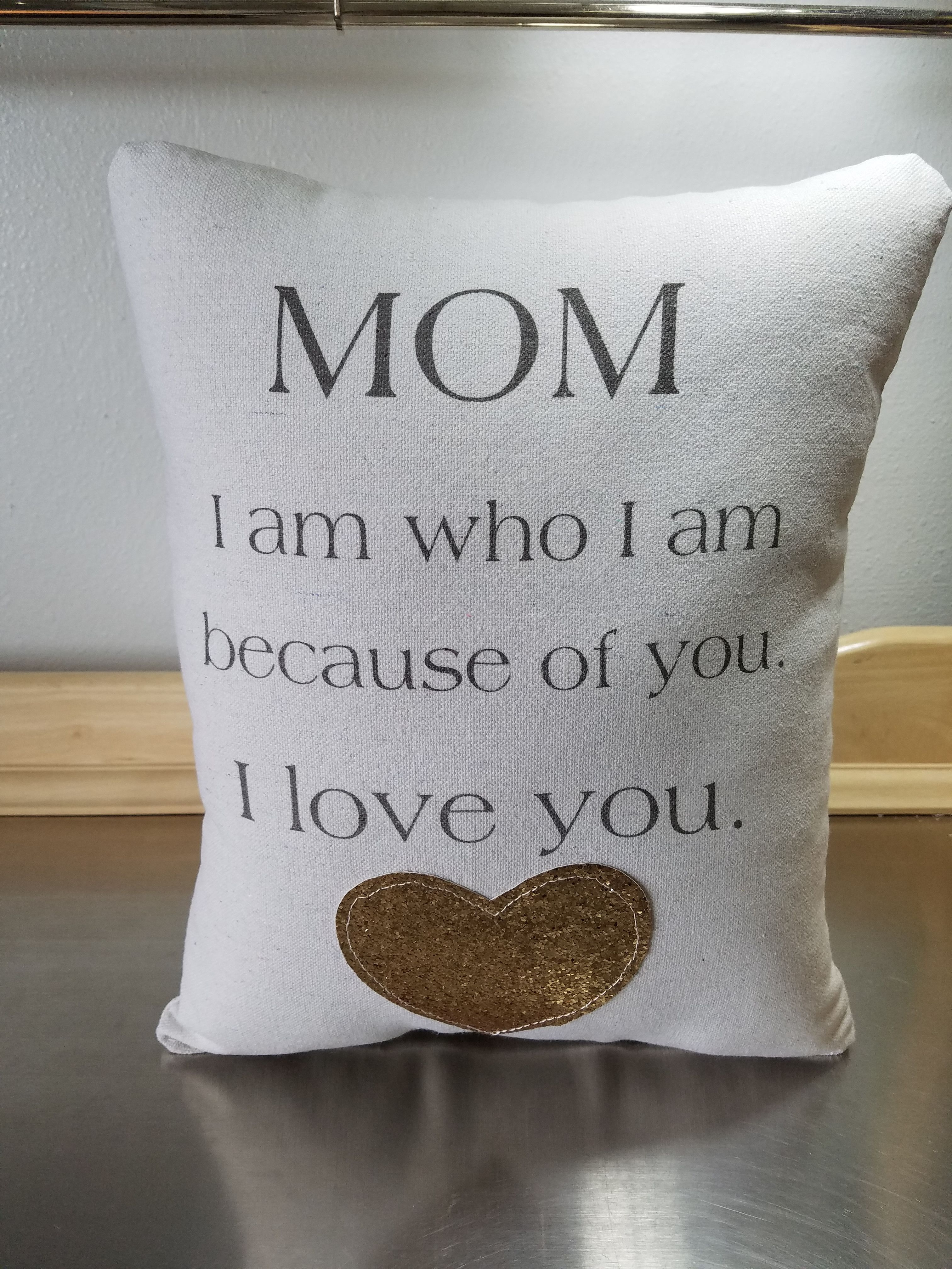 Mother Birthday Gift Throw Pillow Mom Quote For From Son Cotton Pillows