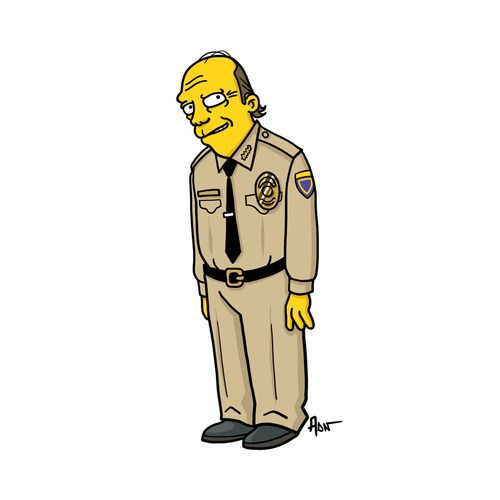 Wayne Unser From Sons Of Anarchy Simpsonized By Adn Sons Of Anarchy Characters Sons Of Anarchy The Simpsons