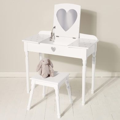 Maisie Dressing Table U0026 Stool Set   White   Dressing Tables, Mirrors U0026  Jewellery Boxes