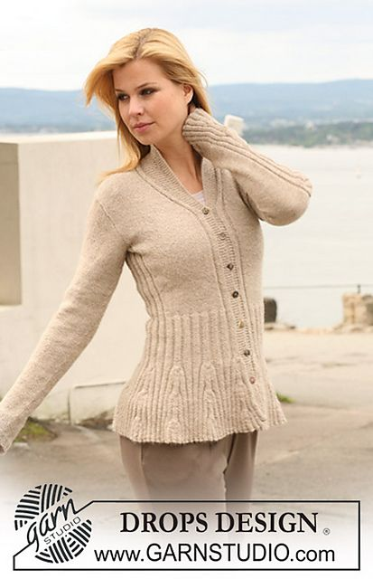 "Ravelry: 123-1 Knitted jacket with rib-pattern in ""Alpaca"" pattern ..."