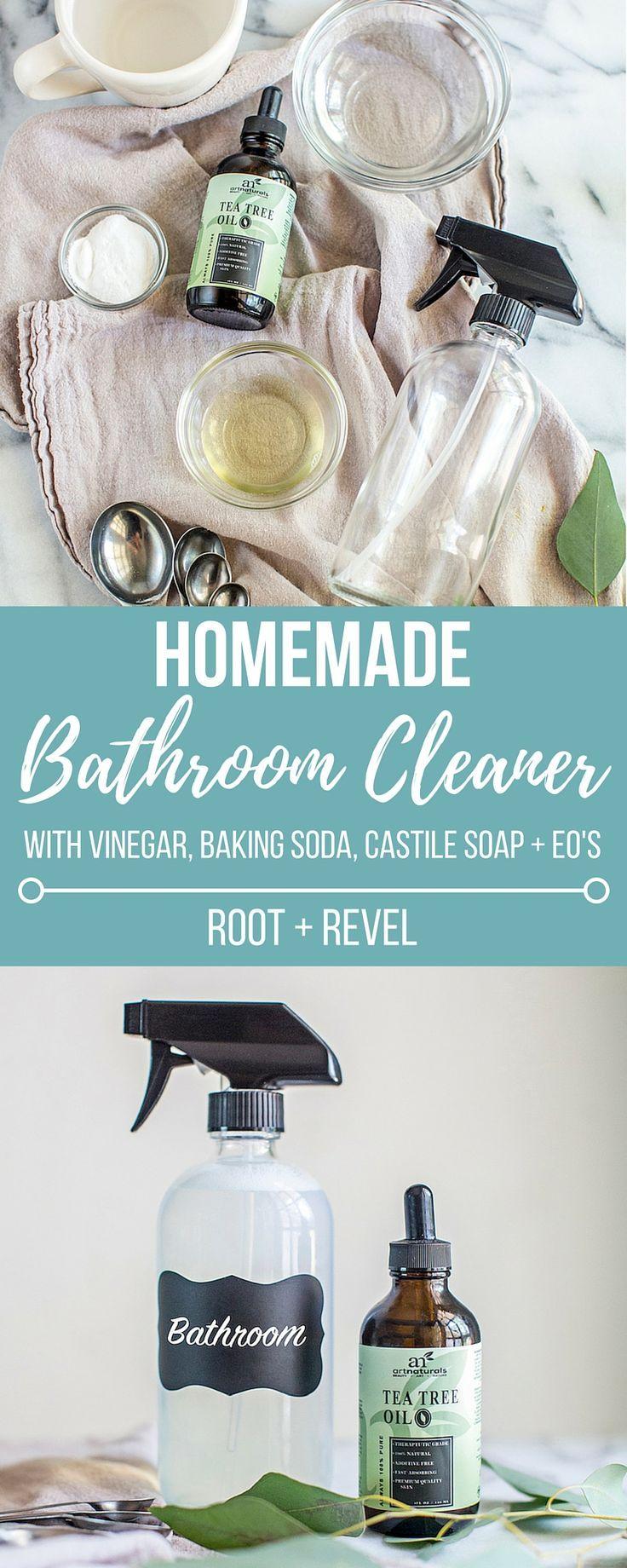 Homemade Bathroom Cleaner Recipe Pinterest Homemade Bathroom - All natural bathroom cleaner