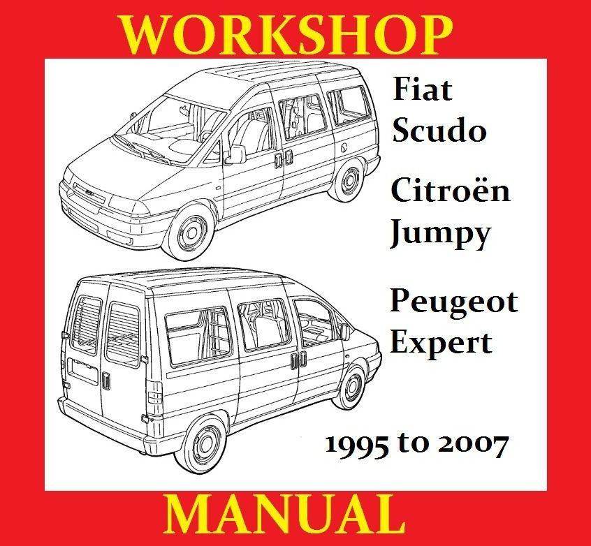 Fiat scudo peugeot expert citroen jumpy workshop service