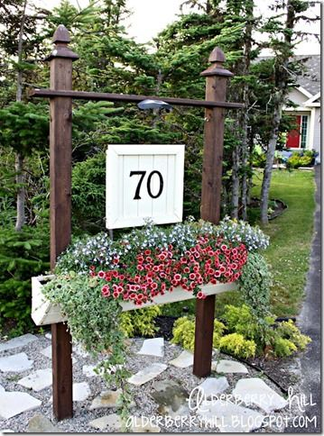 Diy House Number Ideas Alderberry Hill Avec Images