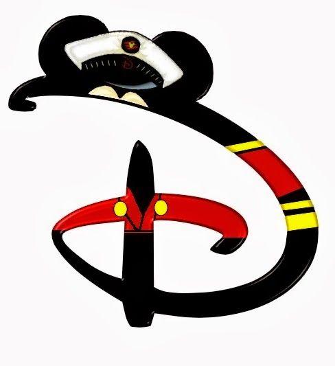 Alfabeto de personajes Disney con letras grandes.   davita ...