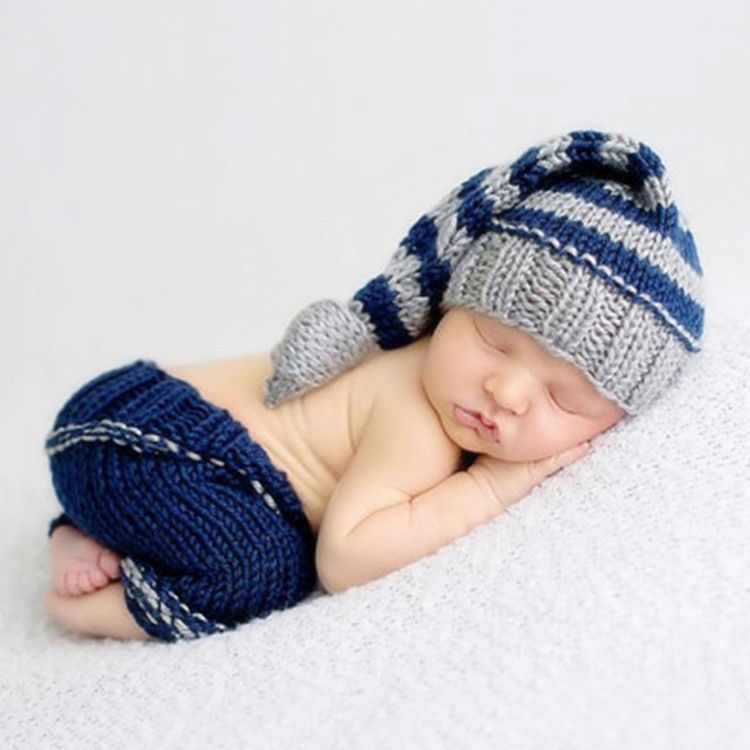 New Newborn Baby Boy Girl Crochet Knit Suit Costume Photo shoot Photography