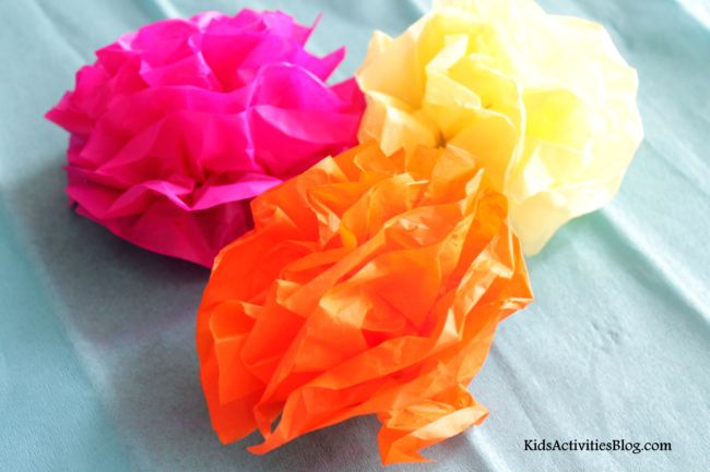 Cinco de mayo mexican paper flowers tissue paper crafts cinco de cinco de mayo make a paper flower tissue paper craft mightylinksfo