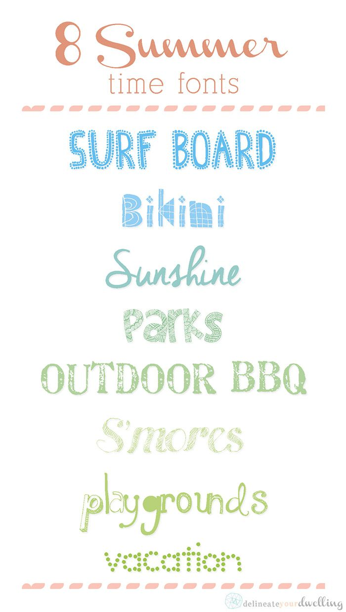 EIGHT free Summer Fonts
