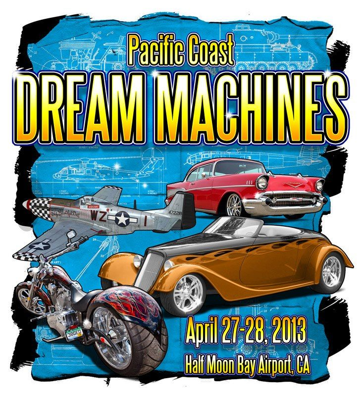 Yearly Outdoor Show Featuring Classic And Hot Cars And Motorcycles - Half moon bay car show