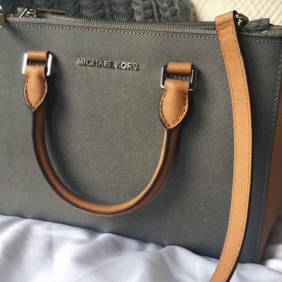 7ec53d7e9b5d Michael Kors bag Brand new with tags MK bag in gray and tan. I