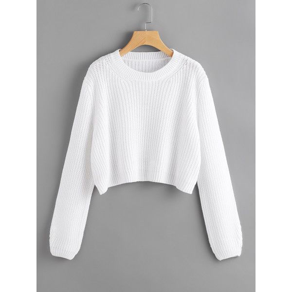 Loose Fit Crop Jumper ( 20) ❤ liked on Polyvore featuring tops ... 6153e5820