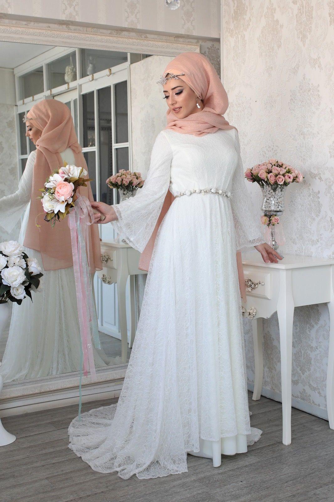 Lefzen  Hochzeitskleider spitze, Hijab hochzeitskleider, Lefzen