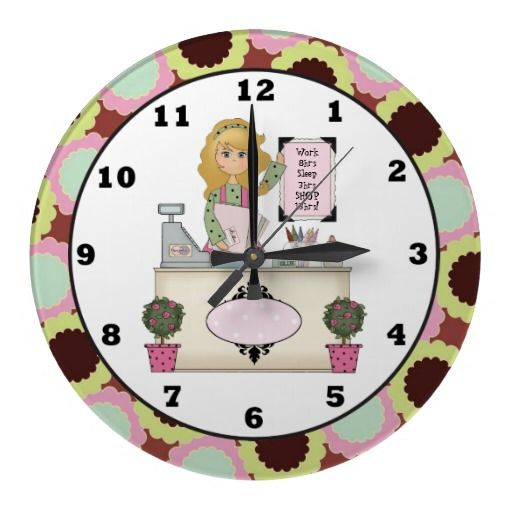 Shopping Divas work Schedual wall clock