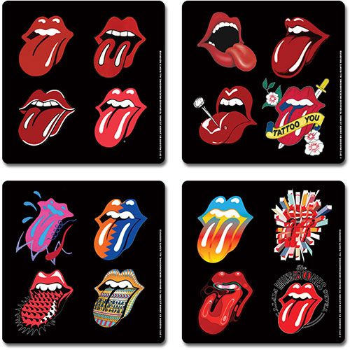 Coaster Set The Rolling Stones Tongue Evolution 163 6 00