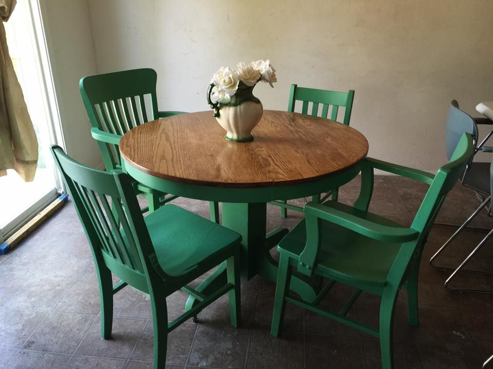 Vintage Oak Table On Original Wooden Wheels Refinished Top In Inspiration Dining Room Chairs On Wheels Review