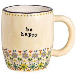 Natural Life Be Happy Mug : Print